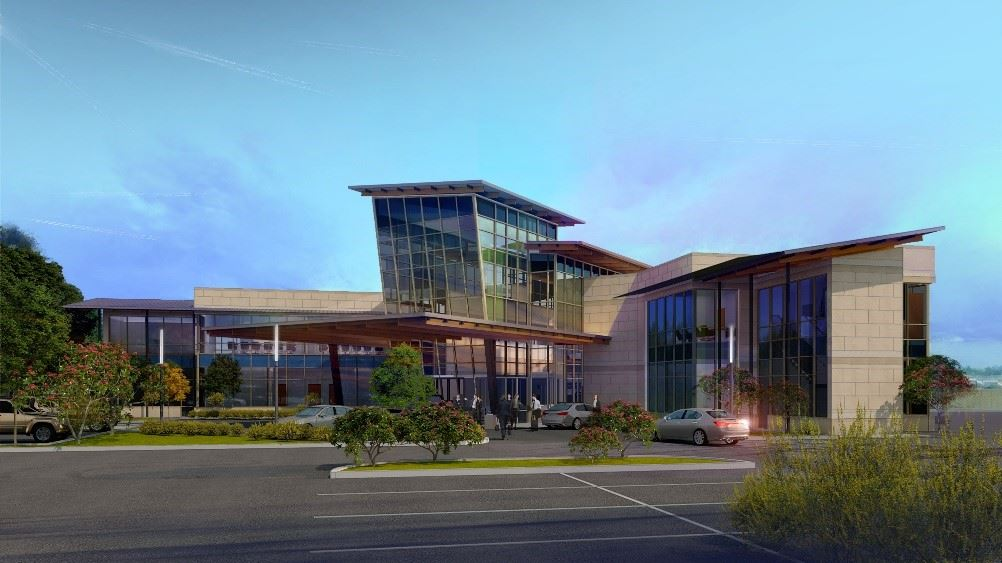 New airport construction rendering